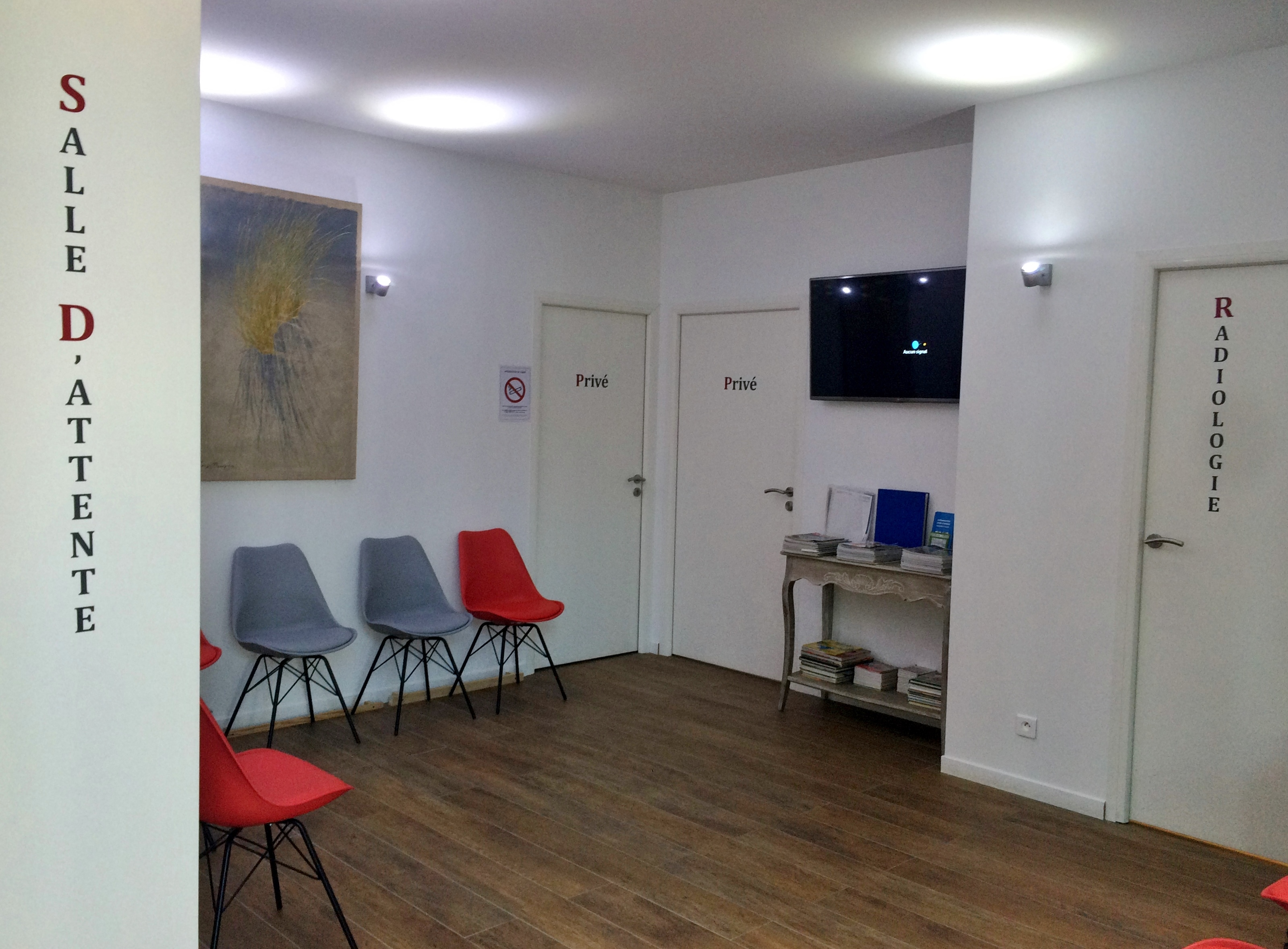 La salle d'attente du Dr Pierson du cabinet orthodontie à Meudon